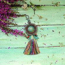 Kľúčenky - Bohemian - vyšívaný střapec na kabelku - 9773147_