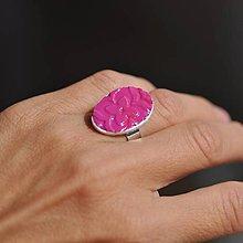 Prstene - Prsteň Cyklámenový kvet - 9771664_