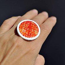 Prstene - Prsteň Oranžové okvetie - 9771675_