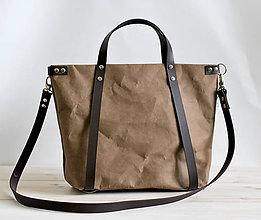 Veľké tašky - Kabelka - taška na kočík (menšia) (tmavo hnedá) - 9773490_