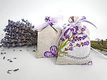 Dekorácie - Levanduľové vrecúška (bavlnené menšie) - 9772323_