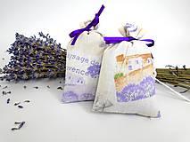 Dekorácie - Levanduľové vrecúška (bavlnené menšie) - 9772324_