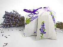 Dekorácie - Levanduľové vrecúška (bavlnené menšie) - 9772337_