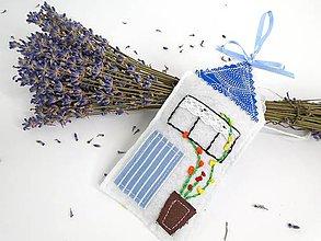 Dekorácie - Levanduľový voňavý domček (Modrá) - 9772245_