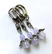 Kľúčenky - Minerálový anjelik - Jadeit fialový - 9771239_