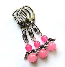 Kľúčenky - Minerálový anjelik - Jadeit ružový - 9771247_