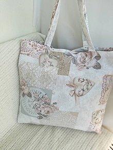 Nákupné tašky - Nákupná taška bežovo - ružová - 9771357_