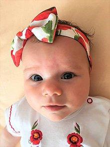 Detské doplnky - detská textilná čelenka Maky - 9771883_