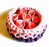 Dobrý obchod - Košík fialky a ruže - 9772138_