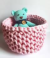Dobrý obchod -  Košík veľkosť M baby pink - 9773204_