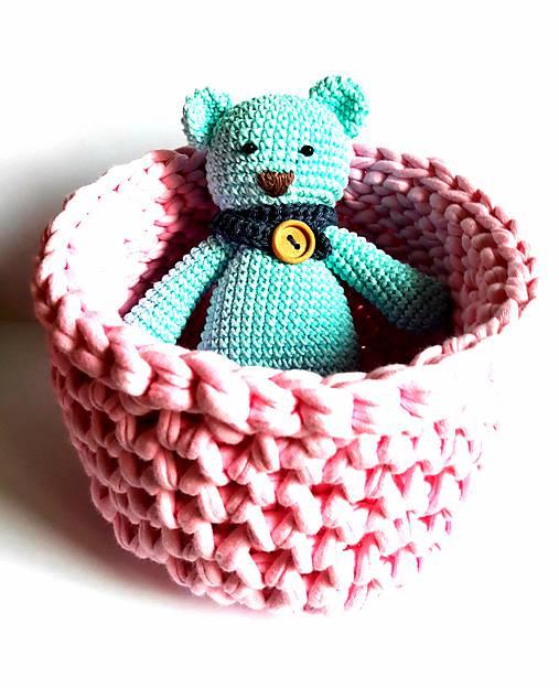Košík veľkosť M baby pink