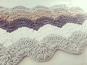 Úžitkový textil - Háčkovaná plyšová deka - 9771285_