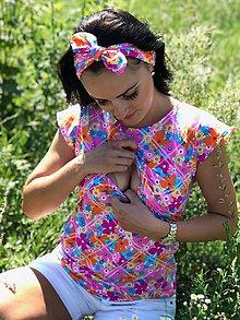 Tehotenské oblečenie - Tričko na dojčenie -