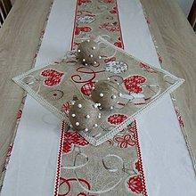 Úžitkový textil - Severské Vianoce - obrus stredový dlhý (130 cm x 40 cm) - 9771078_