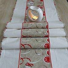 Úžitkový textil - Severské Vianoce - obrus stredový dlhý (175 cm x 40 cm) - 9771087_