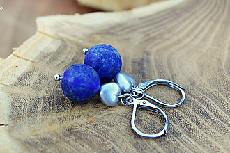 Náušnice - Náušnice ♦ lapis lazuli ♦ - 9773501_