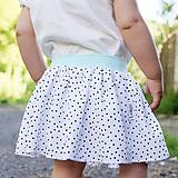 Detské oblečenie - Suknička mini bodky & mint - 9773449_