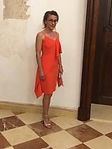Šaty - Letné šaty s volánom-Zľava 50%! - 9772834_