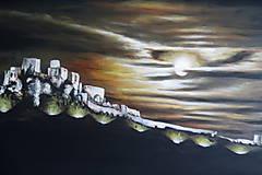 Obrazy - Obraz Mesačný svit nad Spišským hradom - 9772894_