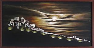 Obrazy - Obraz Mesačný svit nad Spišským hradom - 9772895_