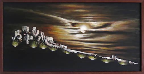 Obraz Mesačný svit nad Spišským hradom