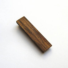 Šperky - Orechový klip na kravatu - 9771176_