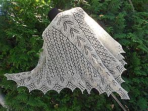 Šatky - Šátek z ručně předené příze merinolandschaft - 9774368_