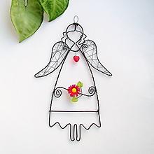 Detské doplnky - anjelik s kvetom - 9775935_