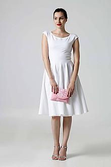 Šaty - Šaty s kruhovou sukňou biele - 9774111_