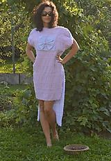 - Originálne bavlnené šaty s aplikáciou štylizovaného kvetu. - 9773954_