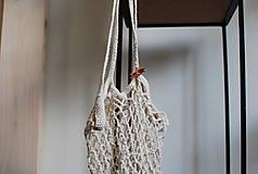 """Nákupné tašky - Nákupná sieťka """"F_05"""" (Biela) - 9776086_"""