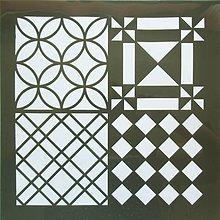 Pomôcky/Nástroje - Šablóna - 30x30 cm - mozaika, trojuholník, káro, štvorec, kruh - 9773888_