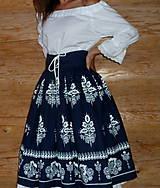 Sukne - Suknica Biely folklór so šnurovačkou - 9773805_