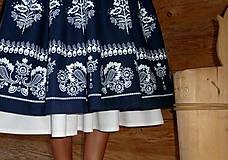 Sukne - Suknica Biely folklór so šnurovačkou - 9773806_
