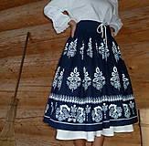 Sukne - Suknica Biely folklór so šnurovačkou - 9773807_