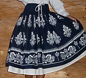 Sukne - Suknica Biely folklór so šnurovačkou - 9773808_
