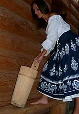 Sukne - Suknica Biely folklór so šnurovačkou - 9773809_