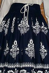 Sukne - Suknica Biely folklór so šnurovačkou - 9773810_
