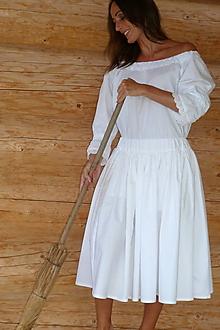 Sukne - Biela spodnica - 9774867_