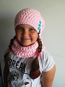 Detské čiapky - destký zimný set - 9775426_