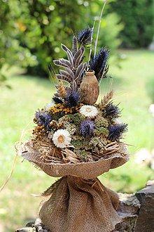Dekorácie - Prírodná sušená kytica - 9774521_