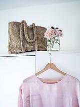 Veľké tašky - taška z jutového špagátu - 9775013_