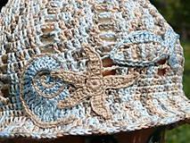 Detské čiapky - Klobúčik s morskými tvormi - 9775084_