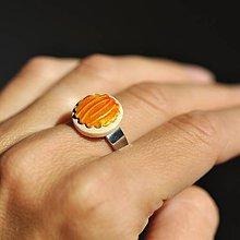 Prstene - Prsteň Oranžový mini - 9774688_