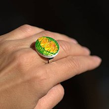 Prstene - Prsteň Oranžový v zelenom - 9774709_