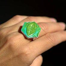 Prstene - Prsteň Zelený list - 9774747_