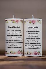 Darčeky pre svadobčanov - Poďakovanie svadobným rodičom - Vzor č.2 - Sviečka z palmového vosku - 9774486_