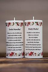 Darčeky pre svadobčanov - Poďakovanie svadobným rodičom - Vzor č.3 - Sviečka z palmového vosku - 9774512_
