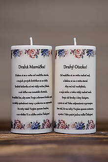 Darčeky pre svadobčanov - Poďakovanie svadobným rodičom - Vzor č.4 - Sviečka z palmového vosku - 9774522_