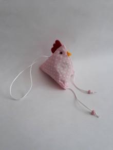 Dekorácie - #Sliepočka, veľkonočná dekorácia,levanduľové vrecúško (Ružová) - 9773967_